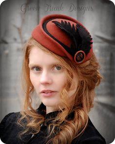 Victorian Fascinator Hat by GreenTrunkDesigns on Etsy