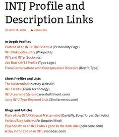 INTJ Central | links for basically everything INTJ