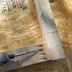 Reclaimed Wood Walls - reclaimed wood #reclaimed #reclaimedwood #DIY #houzz #reclaimedwoodwalls Wood Panel Walls, Wood Paneling, Reclaimed Wood Accent Wall, Liquid Nails, Houzz, Diy Wall, Barn Wood, Rustic, Wooden Panelling
