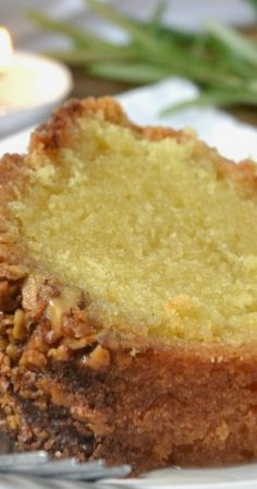 Rum Cake with Butter Rum Glaze Recipe ~ On my goodness it's amazing (baking recipes from scratch) Food Cakes, Cupcake Cakes, Rum Cupcakes, Cupcake Frosting, Rum Glaze Recipe, Butter Recipe, Just Desserts, Dessert Recipes, Bunt Cakes