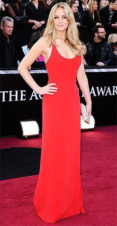 Jennifer Lawrence 2011 Oscars, Academy Awards #celebrities #celebrityfashion #redcarpet