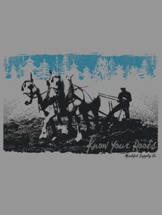 Mindful Supply Co Horse Plow T-Shirt (Mens), Made in USA