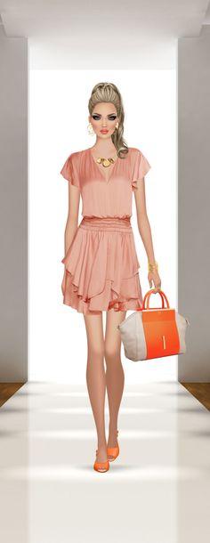 Covet Fashion, Create, Vintage, Dresses, Style, Fashion Drawings, Portrait, Templates, Vestidos