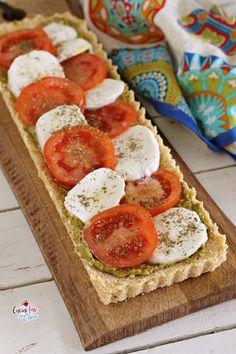 CROSTATA CAPRESE senza cottura, facile e veloce! #cibo #estate #crostata #caprese #senzacottura
