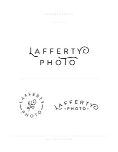 A hip logo by Holly Meyer Design for Lafferty Photo, a wedding and lifestyle photographer.