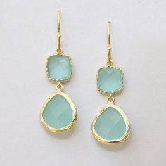 Colorblocks Faceted Blue Opal Cubic Zirconia Glass by lepetitruban, $34.00
