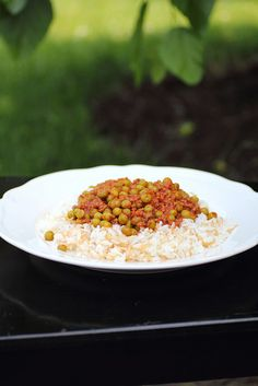Egyptian Pea Stew with ground beef. ♥ Adventuress Heart