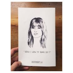 """Should I Get Bangs?"" a zine by @Lauren King and Hamish Robertson"