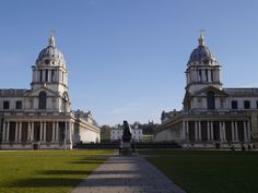 From the thames through the naval college towards Greenwich park