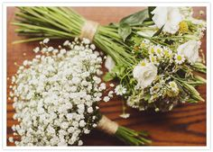 wild flower bouquets : simple, classic combination from Scottish, cottage wedding