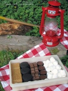 Make a s'mores box to store all of your supplies! So annoying to juggle the pack of crackers, the sticky bag of marshmallows, the candy bar... It won't change the world, but it will simplify my camping!