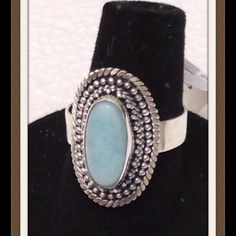 RARE Larimar, Mine Nearly Depleted  3.840 CTS NEW Genuine Rare Larimar, oval cut stone 3.840 CTS. Ring in .925 Sterling Silver Nickel Free (Size 8), can be sized up or down two sizes. This gem is only found in a very small mine in the Dominican Republic. The mine is nearly depleted. A must for anyone's collection. ⭐️ Open to offers Jewelry