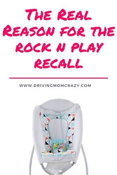 Do you own a Rock 'n Play? Are you pregnant and have a Rock and Play on your baby registry? Learn some of the reasons and mechanics behind the Rock n Play recall and what you should do next. If you already have a Rock and Play for your newborn baby, here' Rock And Play, Best Baby Registry, Parenting Toddlers, Parenting Advice, Baby Safety, Child Safety, Baby Swings, Newborn Care, Trendy Baby