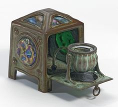 "Tiffany Studios A RARE ""TURTLE-BACK"" INKSTAND  SOLD. 62,500 USD"