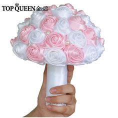 TOPQUEEN F4-PK  Bridal Bouquets Artificial Flower  Pink Wedding Bouquet In Stock Stunning Handmade Flowers Bridesmaid #Affiliate