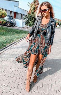 Lola Fashion Asymetryczna sukienka maxi Lola zielona Bohemian, Style, Fashion, Moda, Fashion Styles, Boho, Fashion Illustrations, Stylus, Bohemia