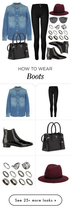 """Style #9290"" by vany-alvarado on Polyvore featuring Prada, J Brand, Gucci, Hat Attack, Christian Dior and ASOS"