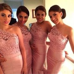 Blush Bridesmaid Dresses,One Shoulder Bridesmaid Dresses,Pink Bridesmaid Dresses,Lace Top Bridesmaid Dresses Only accept payment from PayPal, there is USD5 discount for payment by Paypal, discount cod