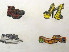 Pencil Color Footwear Traditional Art, Identity, Pencil, Footwear, Signs, Color, Shoe, Shop Signs, Sign