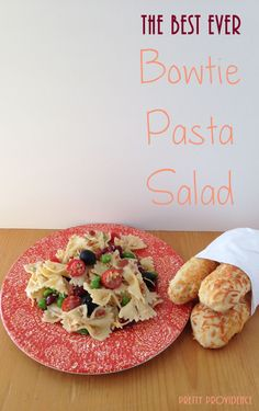 The Best Ever Bowtie Pasta Salad . I made this once and now I am hooked! I can't make any other pasta salad. Best Pasta Salad, Pasta Salad Recipes, Great Recipes, Favorite Recipes, Soup And Salad, I Love Food, Pasta Dishes, The Best, Yummy Food