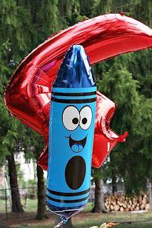 crayon balloon