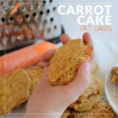 Carrot Cake Oat Cakes Healthy pancakes for kids and baby led weaning. Sugar free snack. Perfect finger food sweetened only with fruit and vegetables