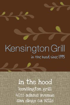 kensington grill [adams ave]