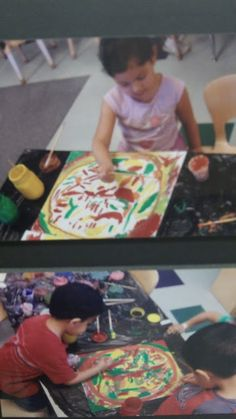 """Child creating Art based her knowledge of """"Chile's"""" More on Blog."""