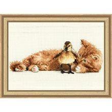 COUPON  Cross Stitch Kit  Furry Friends by CrossStitchKitsOnly, $11.00