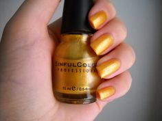 This Is It is a pretty yellow based gold from Sinful Colors. Yellow Nail Polish, Nail Art Pictures, Sinful Colors, Nail Polish Collection, Nail Tutorials, Nails, Nail Ideas, Pretty, Ongles