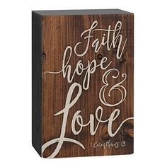 Home - Country Decor Idea Little Cabin, Faith Hope Love, How To Distress Wood, Solid Pine, Home Decor Accessories, Distressed Wood, Graham, Tabletop, Script