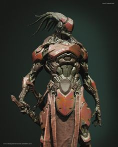 Software used on this project: ZBrush,Photoshop, Octane Render Ryuu Concept Character Design Challenge, Character Design Inspiration, Character Concept, Character Art, Concept Art, Gundam, Poses Manga, Arte Ninja, Sci Fi Armor