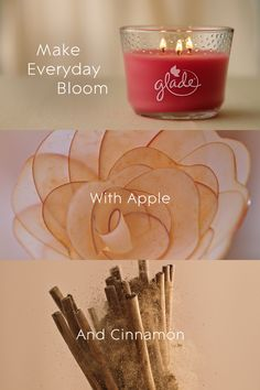 Ignite your mood for comfort with more glow and more fragrance that fills the room quickly*. Let Glade® candle create a comfy atmosphere with the perfect balance of Apples and Cinnamon notes infused with essential oils. Small Candles, 3 Wick Candles, Candle Jars, Starbucks Drinks, Projects To Try, Essential Oils, Fragrance, Diy Crafts, Apples