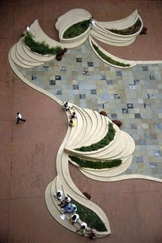 Landscape Architecture #from_above -- this would be a gorgeous way to address a tiered patio design #landscapearchitecture #landscapearchitecturecourtyard