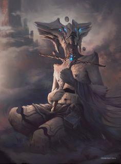 ArtStation - Characters, Stefan Celic Dark Fantasy, Sci Fi Fantasy, Creature Concept, Fantasy Characters, Amazing Art, Science Fiction, Creature Surnaturel, Creature Design, Mythical Creatures