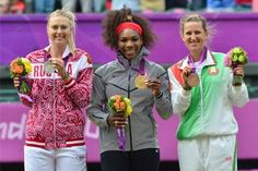 Serena Williams (USA), Maria Sharapova (RUS), and Victoria Azarenka (BLR)  2012 London