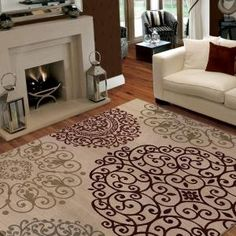 Orian Rugs, Aston White 7 ft. 10 in. x 10 ft. 10 in. Area Rug, 272758 at The Home Depot - Mobile