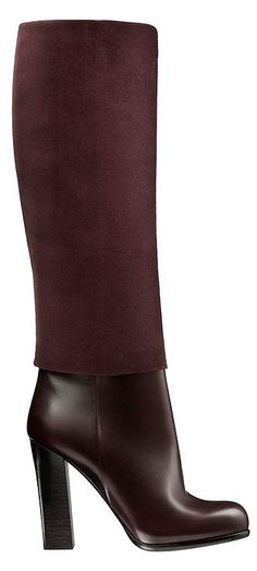 Dior dark plum leather and suede boot