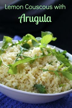 Lemon Couscous with Arugula from Awesome on 20