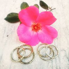 Hammered Brass Rings