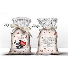 Levendula illatú álom zsák, Tiéd a szívem, szeretlek, panda maci Panda, Valentino, Mac, Valentin Nap, Decor, Decoration, Decorating, Pandas, Poppy
