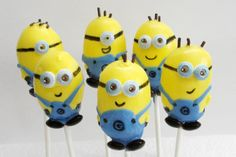 Despicable Me Minion Cake Pops by EntirelySweet on Etsy, $39.00