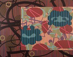 """Charles Burwell       """"New Reveal,"""" 2012, acrylic on canvas, 66 x 84 inches  Bridgette Mayer Gallery"""