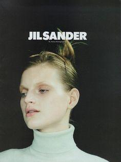 guinevere van seenus by craig mcdean for jil sander campaign 1996.