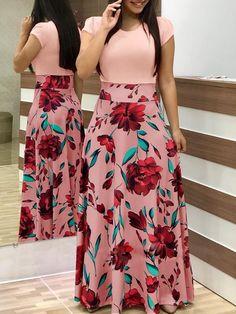 2019 Casual Maxi Dress Bohemian Print Plus Size Boho Summer Robe Women Dress Elegant Long Dresses Beach Clothes Vestidos Floral Print Maxi Dress, Boho Dress, Dress Casual, Chic Dress, Women's Casual, Casual Office, Beach Casual, Casual Party, Work Casual