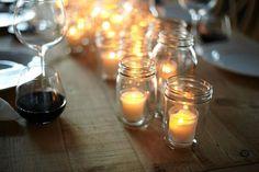Candles arrangement