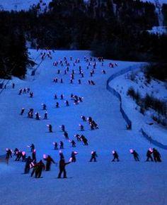I LIGHT PILA-fiaccolata sulla neve- Pila (AO) 8 febbraio 2014