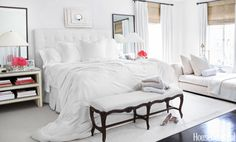 Your white bedroom means you consider it an escape.