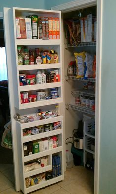 Small Pantry Door Best Small Pantry Closet Ideas On Pantry Door Rack Pantry Storage With Sliding Doors Tall Pantry Storage Cabinets With Doors Small Pantry Door Organizer Pantry Door Storage, Pantry Door Organizer, Spice Storage, Kitchen Organization Pantry, Diy Kitchen Storage, Kitchen Decor, Organized Pantry, Organization Ideas, Storage Ideas