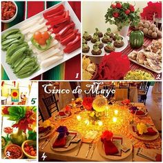 pictures of paper flowers for cinco de mayo | Edible Flag for Cinco de Mayo - Family Fun 2. Festive table and ...